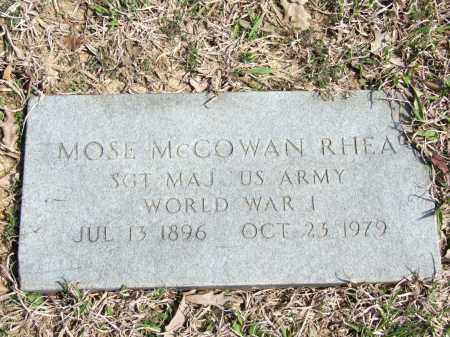RHEA (VETERAN WWI), MOSE MCCOWAN - Greene County, Arkansas | MOSE MCCOWAN RHEA (VETERAN WWI) - Arkansas Gravestone Photos