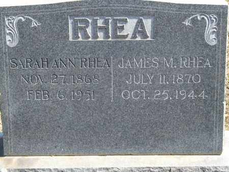 RHEA, SARAH ANN - Greene County, Arkansas | SARAH ANN RHEA - Arkansas Gravestone Photos