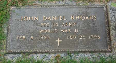 RHOADS (VETERAN WWII), JOHN DANIEL - Greene County, Arkansas | JOHN DANIEL RHOADS (VETERAN WWII) - Arkansas Gravestone Photos