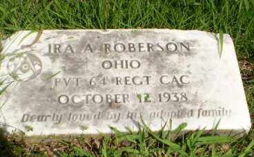 ROBERSON  (VETERAN), IRA A - Greene County, Arkansas | IRA A ROBERSON  (VETERAN) - Arkansas Gravestone Photos
