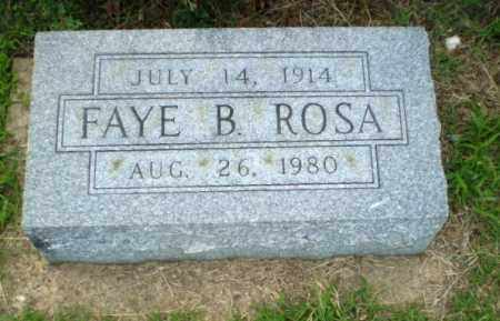 ROSA, FAYE B - Greene County, Arkansas | FAYE B ROSA - Arkansas Gravestone Photos