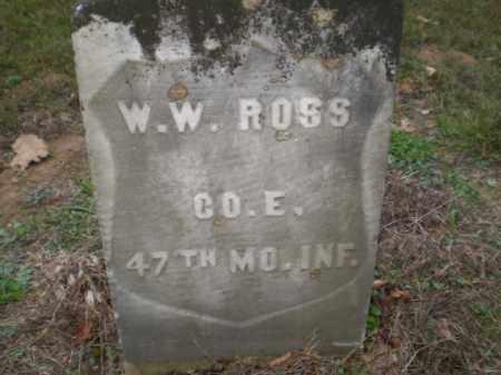 ROSS  (VETERAN UNION), WILLIAM WESLEY - Greene County, Arkansas | WILLIAM WESLEY ROSS  (VETERAN UNION) - Arkansas Gravestone Photos
