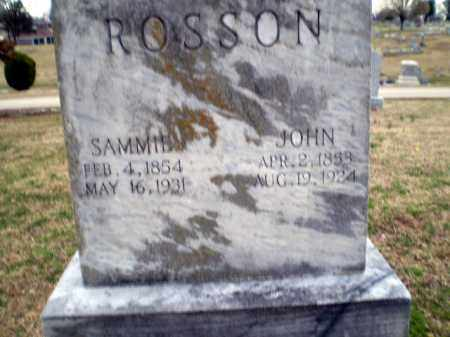 ROSSON, SAMMIE - Greene County, Arkansas | SAMMIE ROSSON - Arkansas Gravestone Photos