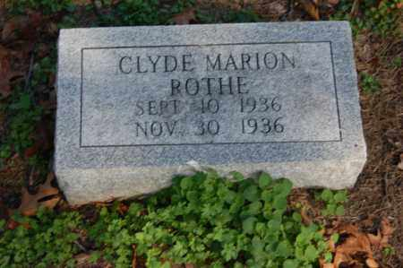 ROTHE, CLYDE MARION - Greene County, Arkansas | CLYDE MARION ROTHE - Arkansas Gravestone Photos