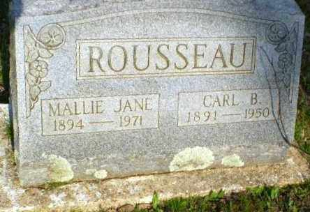 ROUSSEAU, MALLIE JANE - Greene County, Arkansas | MALLIE JANE ROUSSEAU - Arkansas Gravestone Photos
