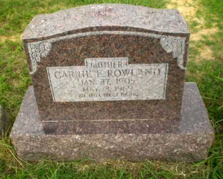 ROWLAND, CARRIE E - Greene County, Arkansas | CARRIE E ROWLAND - Arkansas Gravestone Photos