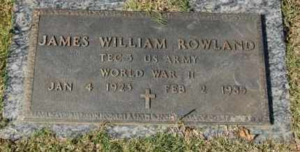 ROWLAND (VETERAN WWII), JAMES WILLIAM - Greene County, Arkansas | JAMES WILLIAM ROWLAND (VETERAN WWII) - Arkansas Gravestone Photos