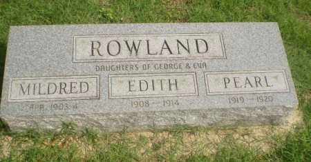 ROWLAND, MILDRED - Greene County, Arkansas | MILDRED ROWLAND - Arkansas Gravestone Photos