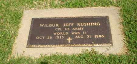 RUSHING  (VETERAN WWII), WILBUR JEFF - Greene County, Arkansas | WILBUR JEFF RUSHING  (VETERAN WWII) - Arkansas Gravestone Photos