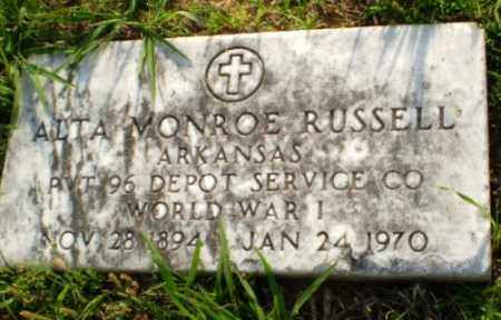 RUSSELL  (VETERAN WWI), ALTA MONROE - Greene County, Arkansas | ALTA MONROE RUSSELL  (VETERAN WWI) - Arkansas Gravestone Photos