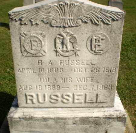 RUSSELL, IOLA - Greene County, Arkansas | IOLA RUSSELL - Arkansas Gravestone Photos