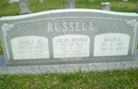 RUSSELL, DAVID E - Greene County, Arkansas | DAVID E RUSSELL - Arkansas Gravestone Photos