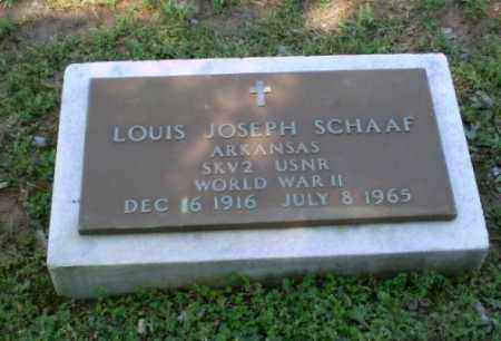 SCHAAF (VETERAN WWII), LOUIS JOSEPH - Greene County, Arkansas | LOUIS JOSEPH SCHAAF (VETERAN WWII) - Arkansas Gravestone Photos