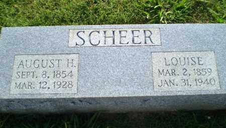 SCHEER, AUGUST H - Greene County, Arkansas | AUGUST H SCHEER - Arkansas Gravestone Photos