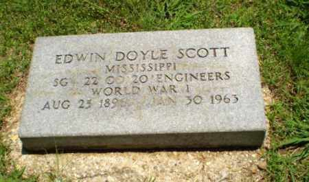 SCOTT  (VETERAN WWI), EDWIN DOYLE - Greene County, Arkansas | EDWIN DOYLE SCOTT  (VETERAN WWI) - Arkansas Gravestone Photos