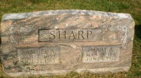 SHARP, MARY A - Greene County, Arkansas | MARY A SHARP - Arkansas Gravestone Photos