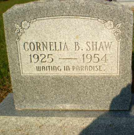 SHAW, CORNELIA B - Greene County, Arkansas | CORNELIA B SHAW - Arkansas Gravestone Photos