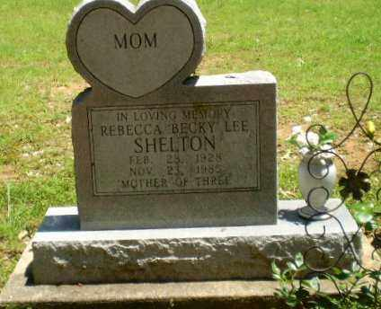 """SHELTON, REBECCA """"BECKLY"""" LEE - Greene County, Arkansas   REBECCA """"BECKLY"""" LEE SHELTON - Arkansas Gravestone Photos"""