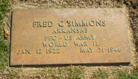 SIMMONS  (VETERAN WWII), FRED C - Greene County, Arkansas | FRED C SIMMONS  (VETERAN WWII) - Arkansas Gravestone Photos