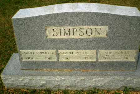 SIMPSON, SR, ROBERT - Greene County, Arkansas | ROBERT SIMPSON, SR - Arkansas Gravestone Photos