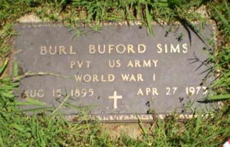 SIMS  (VETERAN WWI), BURL BUFORD - Greene County, Arkansas | BURL BUFORD SIMS  (VETERAN WWI) - Arkansas Gravestone Photos