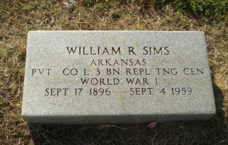 SIMS (VETERAN WWI), WILLIAM R - Greene County, Arkansas | WILLIAM R SIMS (VETERAN WWI) - Arkansas Gravestone Photos