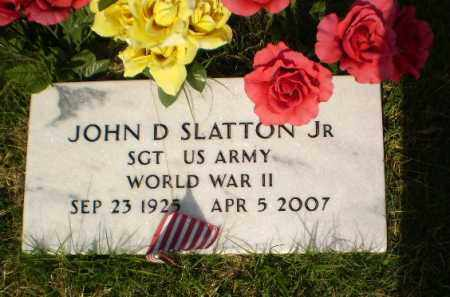 SLATTON, JR  (VETERAN WWII), JOHN D - Greene County, Arkansas | JOHN D SLATTON, JR  (VETERAN WWII) - Arkansas Gravestone Photos