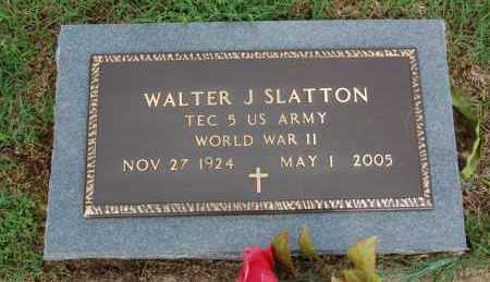 SLATTON (VETERAN WWII), WALTER J - Greene County, Arkansas | WALTER J SLATTON (VETERAN WWII) - Arkansas Gravestone Photos