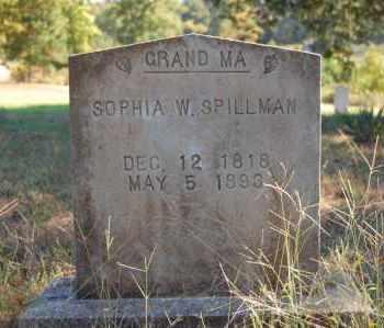 SPILLMAN, SOPHIA W. - Greene County, Arkansas | SOPHIA W. SPILLMAN - Arkansas Gravestone Photos