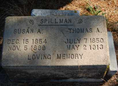 SPILLMAN, SUSAN A. - Greene County, Arkansas | SUSAN A. SPILLMAN - Arkansas Gravestone Photos