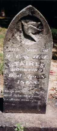 STAIRES, INFANT SON - Greene County, Arkansas | INFANT SON STAIRES - Arkansas Gravestone Photos