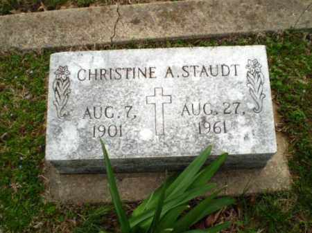 STAUDT, CHRISTINE A - Greene County, Arkansas | CHRISTINE A STAUDT - Arkansas Gravestone Photos