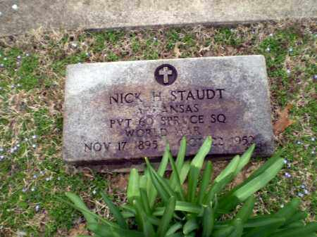 STAUDT  (VETERAN WWI), NICK H. - Greene County, Arkansas | NICK H. STAUDT  (VETERAN WWI) - Arkansas Gravestone Photos
