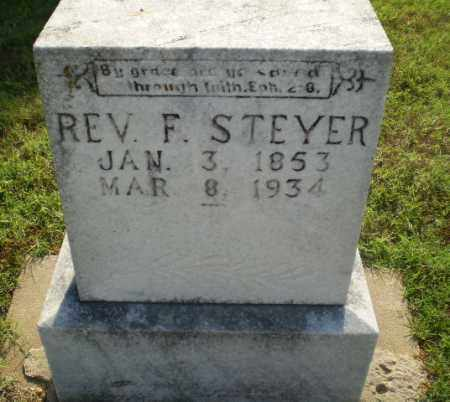 STEYER, REV. F - Greene County, Arkansas | REV. F STEYER - Arkansas Gravestone Photos