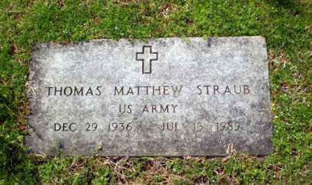 STRAUB  (VETERAN), THOMAS MATTHEW - Greene County, Arkansas | THOMAS MATTHEW STRAUB  (VETERAN) - Arkansas Gravestone Photos