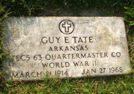 TATE (VETERAN WWII), GUY E - Greene County, Arkansas | GUY E TATE (VETERAN WWII) - Arkansas Gravestone Photos