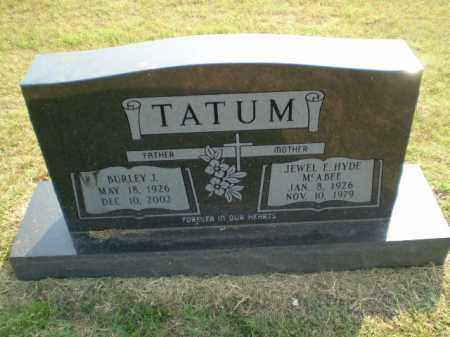 TATUM, BURLEY J - Greene County, Arkansas | BURLEY J TATUM - Arkansas Gravestone Photos
