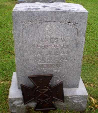 THOMPSON  (VETERAN CSA), JAMES W - Greene County, Arkansas | JAMES W THOMPSON  (VETERAN CSA) - Arkansas Gravestone Photos