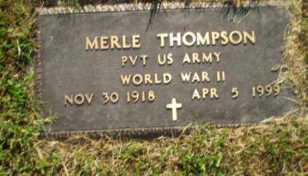 THOMPSON  (VETERAN WWII), MERLE - Greene County, Arkansas | MERLE THOMPSON  (VETERAN WWII) - Arkansas Gravestone Photos