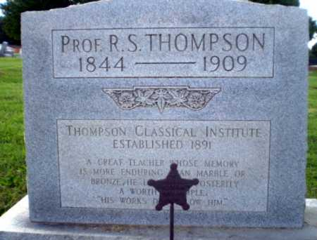 THOMPSON  (VETERAN CSA), PROF R.S. - Greene County, Arkansas | PROF R.S. THOMPSON  (VETERAN CSA) - Arkansas Gravestone Photos