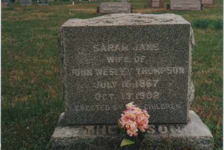 TINSLEY THOMPSON, SARAH JANE - Greene County, Arkansas | SARAH JANE TINSLEY THOMPSON - Arkansas Gravestone Photos