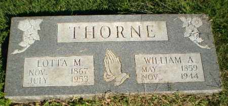 THORNE, WILLIAM A - Greene County, Arkansas | WILLIAM A THORNE - Arkansas Gravestone Photos