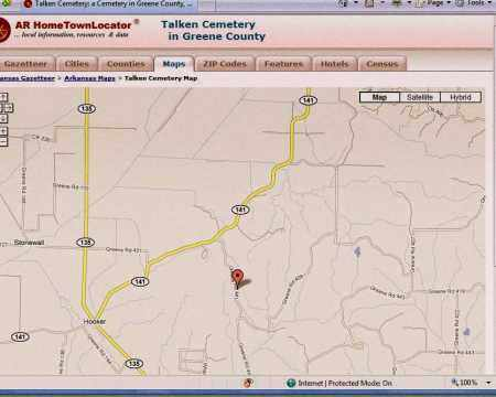 *TOELKEN CEMETERY, MAP - Greene County, Arkansas | MAP *TOELKEN CEMETERY - Arkansas Gravestone Photos