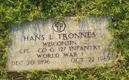 TRONNES (VETERAN WWI), HANS L - Greene County, Arkansas | HANS L TRONNES (VETERAN WWI) - Arkansas Gravestone Photos