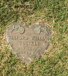 TUETKIN, TELFLORD WILLIAM - Greene County, Arkansas | TELFLORD WILLIAM TUETKIN - Arkansas Gravestone Photos