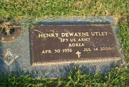UTLEY (VETERAN KOR), HENRY DEWAYNE - Greene County, Arkansas | HENRY DEWAYNE UTLEY (VETERAN KOR) - Arkansas Gravestone Photos