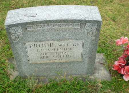 VALENTINE, PRUDIE - Greene County, Arkansas | PRUDIE VALENTINE - Arkansas Gravestone Photos