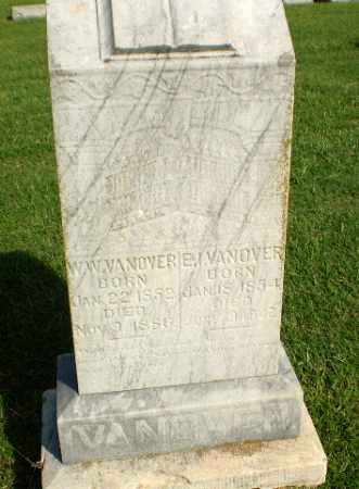 VANOVER, W.W. - Greene County, Arkansas | W.W. VANOVER - Arkansas Gravestone Photos