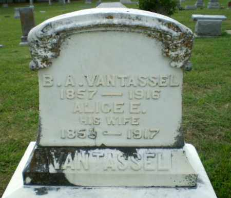 VANTASSEL, B.A. - Greene County, Arkansas | B.A. VANTASSEL - Arkansas Gravestone Photos