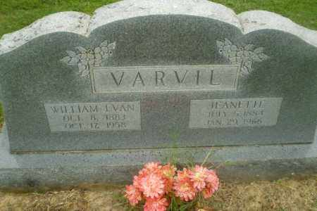 VARVIL, JEANETTE - Greene County, Arkansas | JEANETTE VARVIL - Arkansas Gravestone Photos